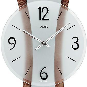 современные настенные часы отполированная металлическая накладка на декоративной деревянной конструкции