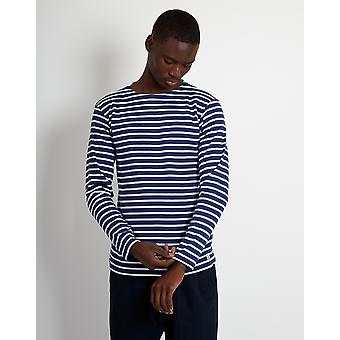 Armor Lux Mariniere Heritage Long Sleeeve T-Shirt Navy & White