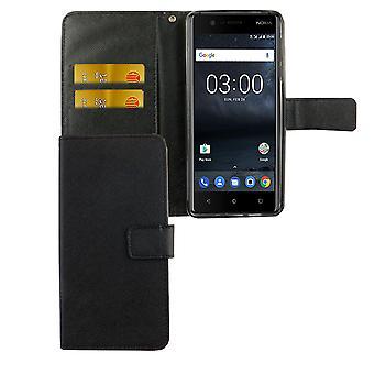 Handyhülle Tasche für Handy Nokia 3.1 2018 Schwarz