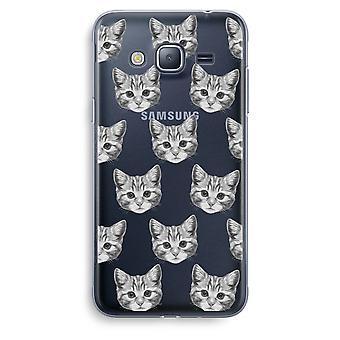 Samsung Galaxy J3 (2016) Transparent Case (Soft) - Kitten
