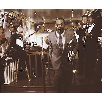 Louis Armstrong performing Photo Print