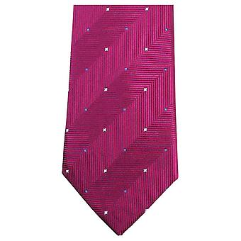Knightsbridge corbatas patrón doble lazo - rosa
