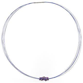 Ti2 Titanium Chaos Pendant Necklace - Violet