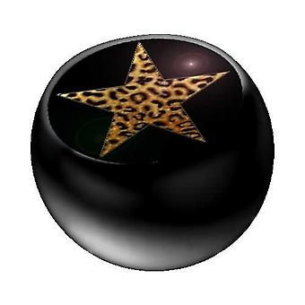 Piercing Replacement Ball Black, Body Jewellery, Leo Star | 1,6 x 5 and 6 mm