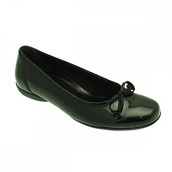 Gabor Patent Ballet Pump With Bow Detail