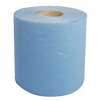Staples 2 Ply Perforated Blue Centrefeed Rolls 150m x 210mm