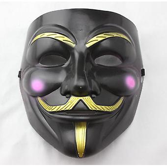 Anonym Guy Fawkes ansigt maske-sort-rød