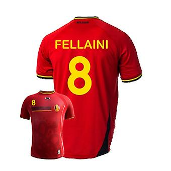 2014-15 Belgien World Cup hem skjorta (Fellaini 8) - barn