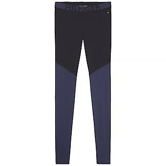 Tommy Hilfiger Women Bold Microfiber Legging Black / Navy Blazer, Medium
