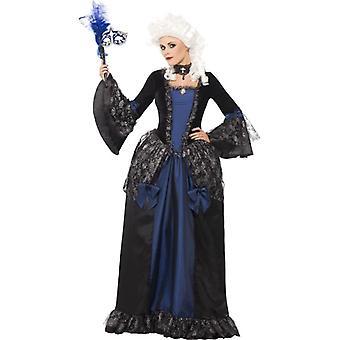 Baroque Beauty Masquerade Costume, UK Dress 16-18