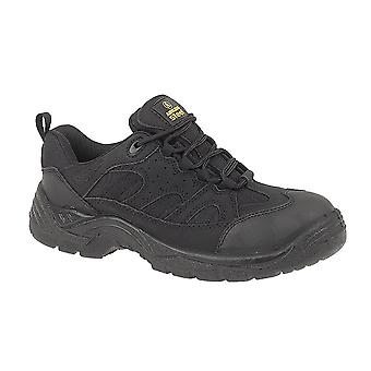 Amblers Steel Unisex FS214 Black Safety Trainer / Mens Womens Shoes
