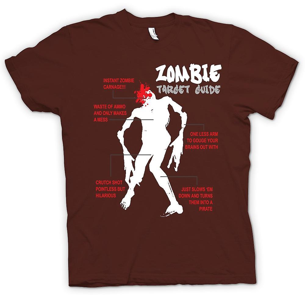 Mens T-shirt - Zombie Target Guide - lustig