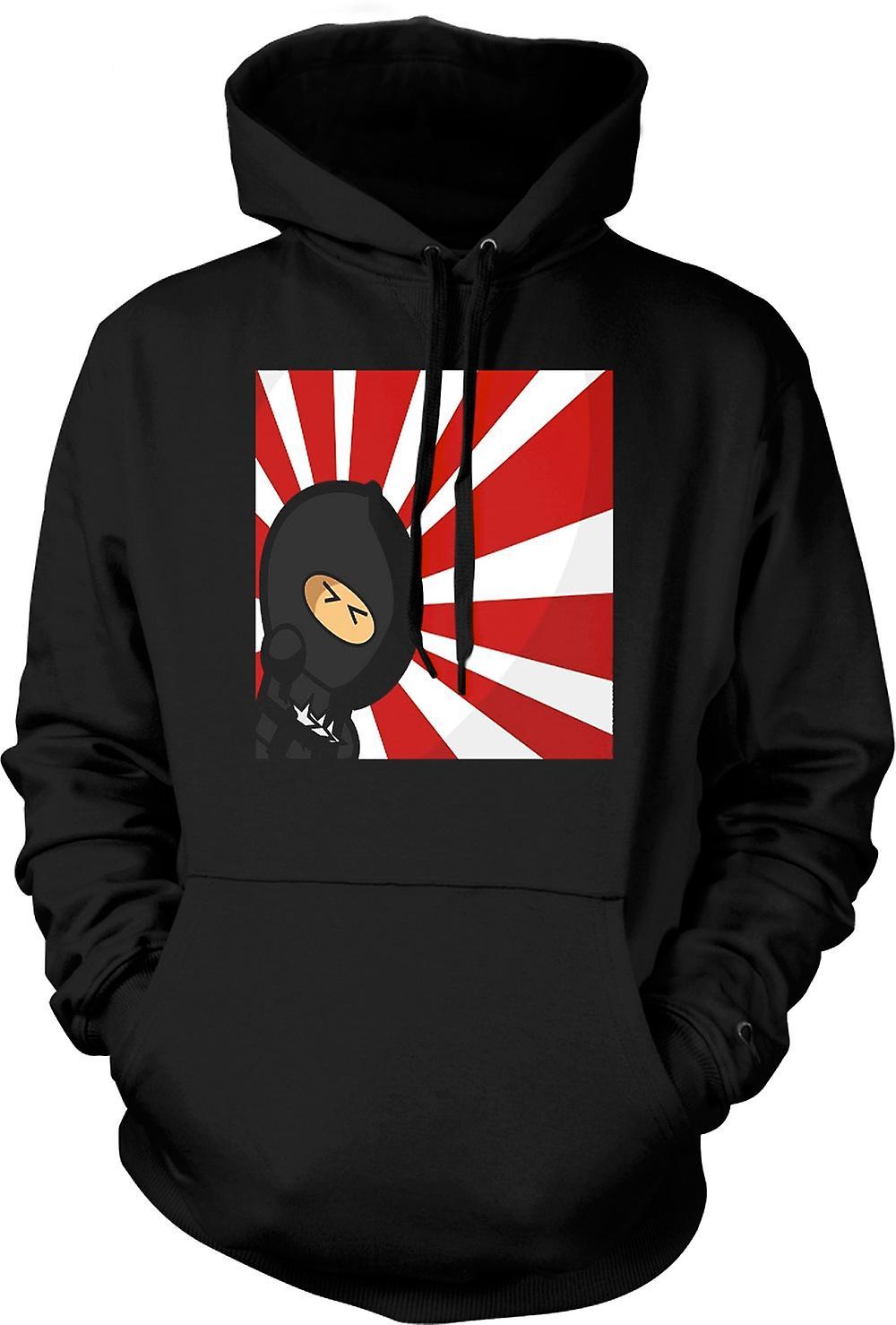 Mens Hoodie - Ninja - Pop Art - divertente