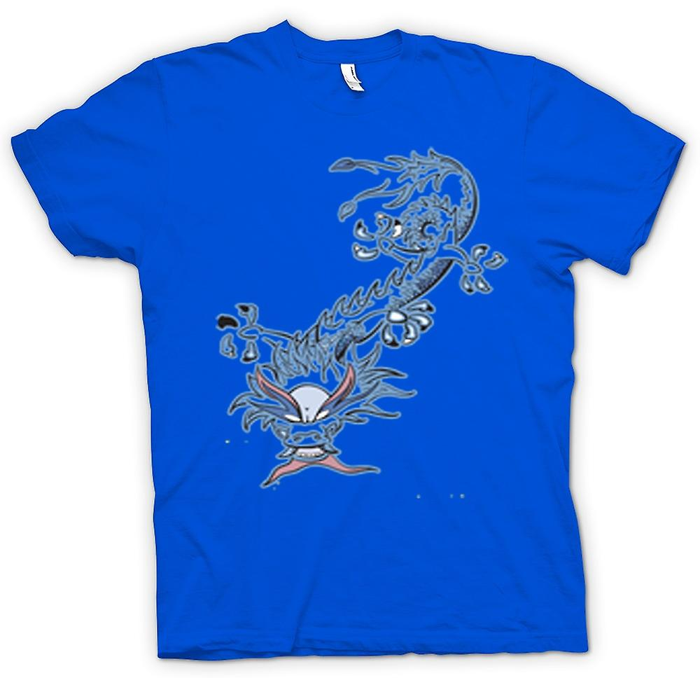 Mens T-shirt - Oriental Dragon Tribal
