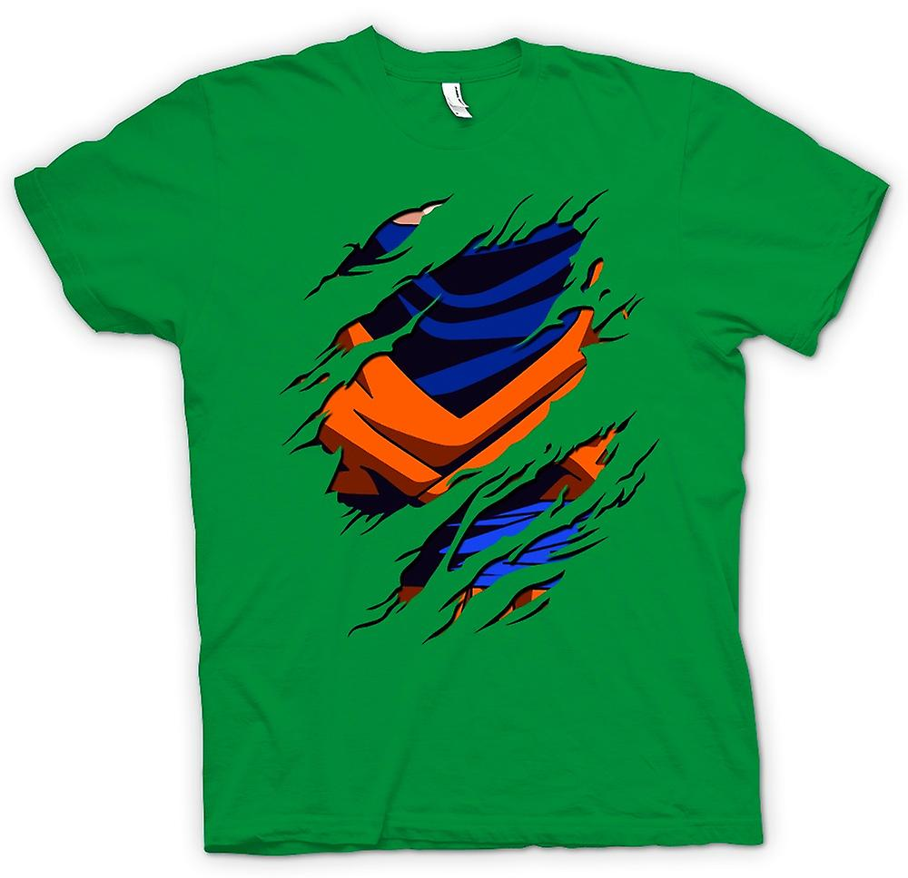 Mens T-shirt - Goku Ripped Design - Dragonball Z Inspired