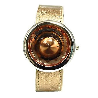 Henley Glamour Bronze Multi Faceted Cut Glass Ladies Fashion Watch H06021.2