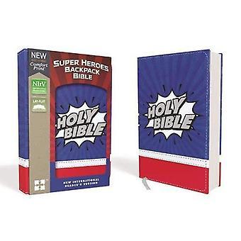 Les Super héros NIRV sac à dos Bible, Leathersoft, bleu/rouge