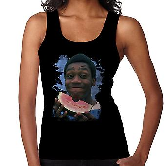 TV Times A Young Lenny Henry Eating A Watermelon Women's Vest