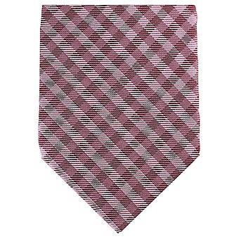 Knightsbridge halsdukar kontrolleras tonala vanlig Polyester Tie - röd