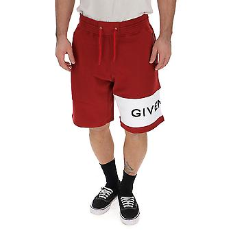 Givenchy Red Cotton Shorts
