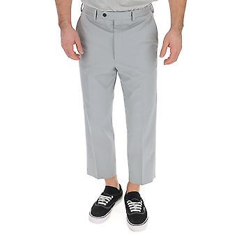 Pantalones de algodón gris de Prada
