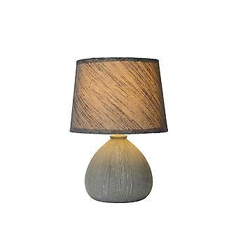 Inspiracja Ramzi domek okrągła Lampa stołowa szara ceramika