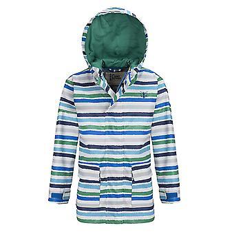 Lighthouse Anchor Boys Jacket Ocean Blue/Pea Green Stripe