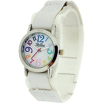 Reflex Kids White Dial Colourful Digits White Easy Fasten Fabric Watch KID-0074