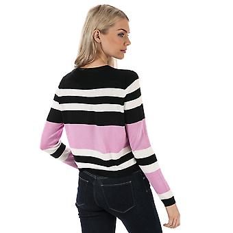 Womens Only Houston Stripe Jumper In Black