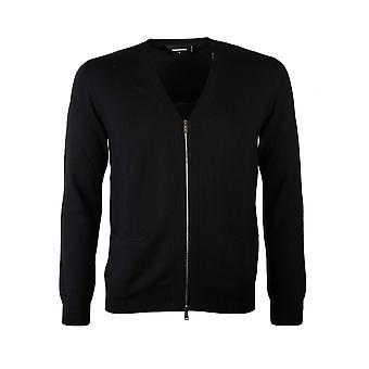 Dsquared2 Zipped Cardigan Black