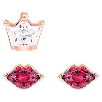 Swarovski hors de ce monde Kiss Pierced Earrings - rouge - mixte de placage