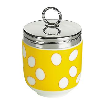 Bia Porcelain and Stainless Steel Egg Coddler, Yellow