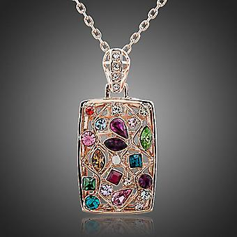 18K Gold Plated Multicolor Pendant