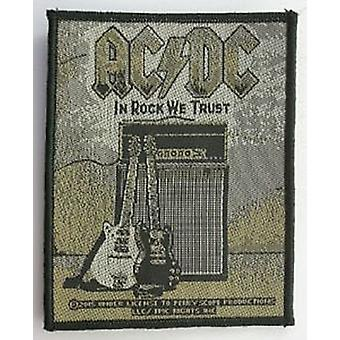 AC/DC In Rock We Trust Nähen-auf Tuch Patch (Ro)